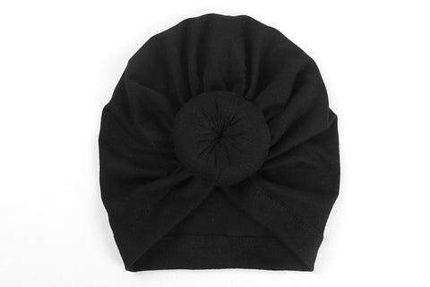 black baby turban head wrap