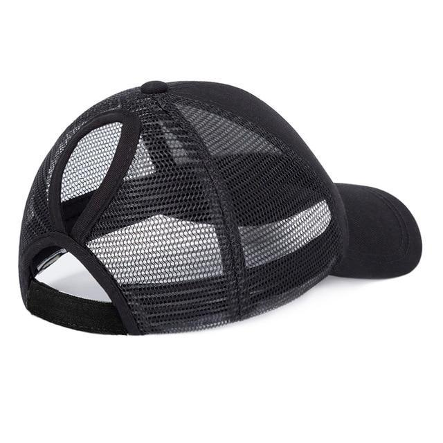 a94d6bbddee Messy Bun Baseball Hat- Mesh back – Copperpenni