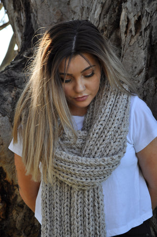 The Laura Super scarf- Extra Long Scarf- Australian Wool- Hand knit