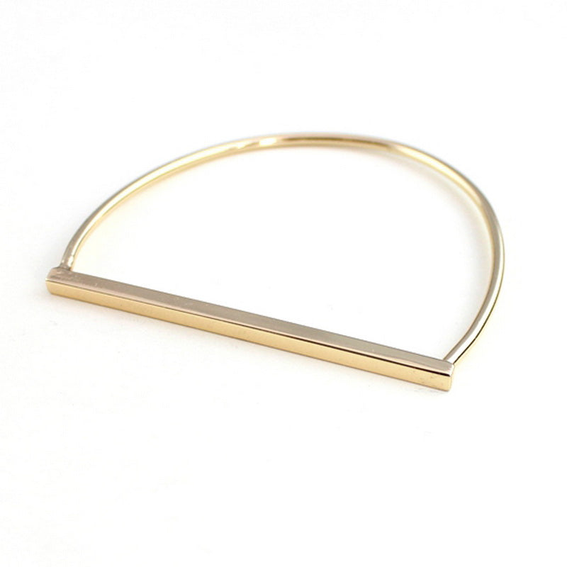 Gold plated stirrup bangle - bangle - GoldSnaffle