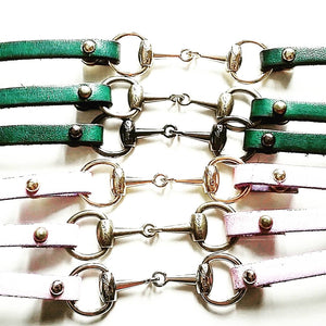 Limited edition leather snaffle bracelet - bracelet - GoldSnaffle