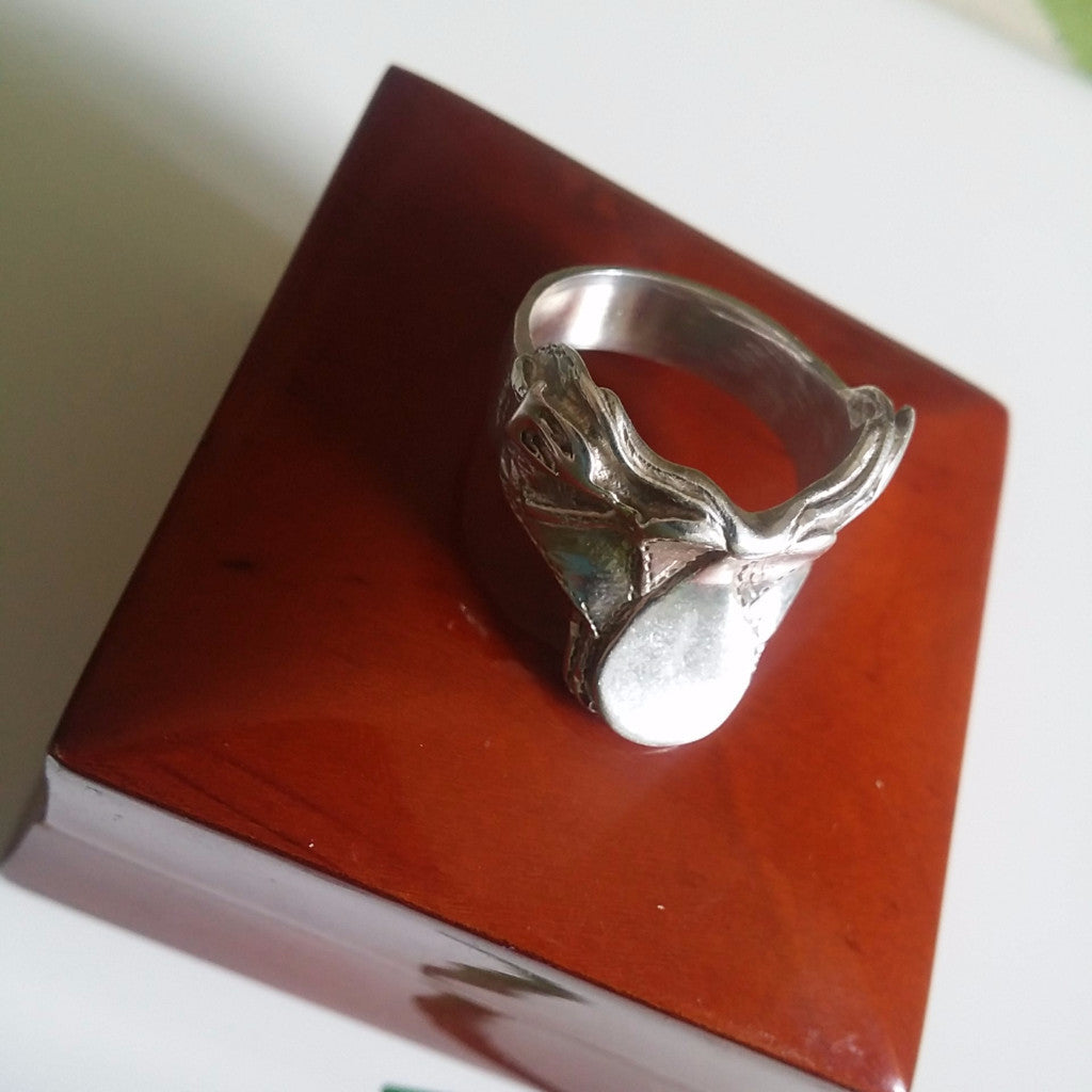 Amazing sterling silver saddle ring - Ring - GoldSnaffle