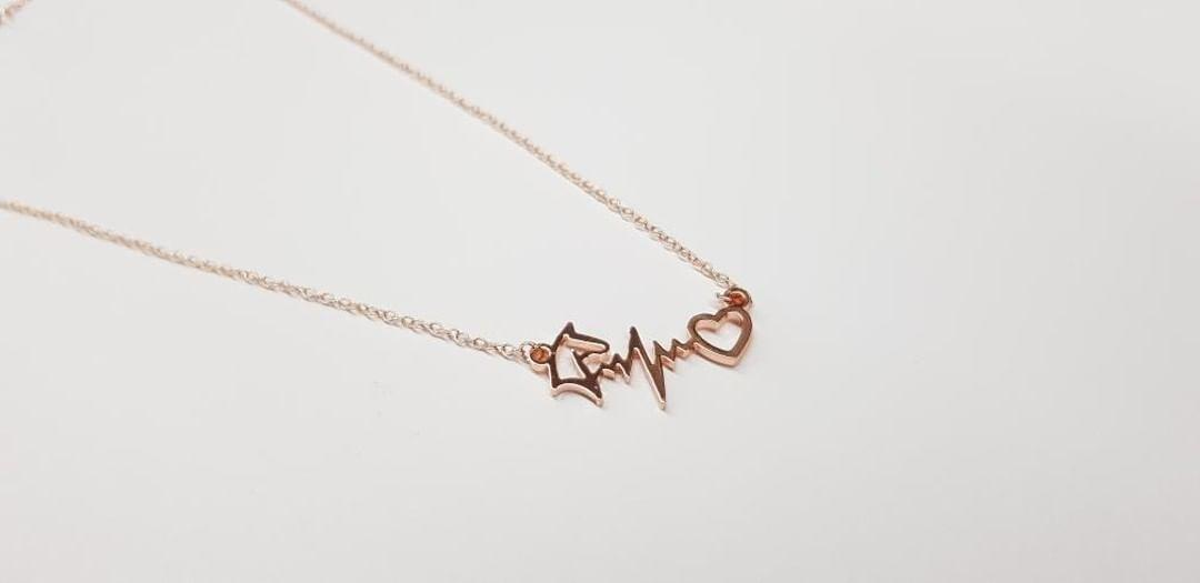 Wholesale Rose gold plated horse heartbeat
