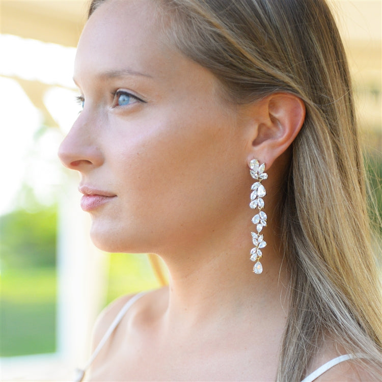 Deborah Drop Cluster Earrings