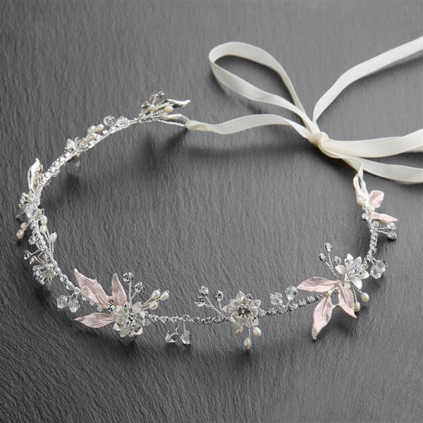 Blush Leaf Headband