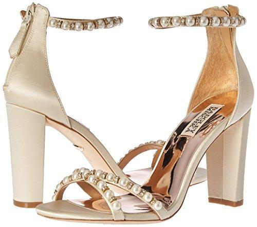 Bride Savvy LLC -Your Bride Box Badgley Mischka Women's Hooper Heeled Sandal, Ivory, 6 M US