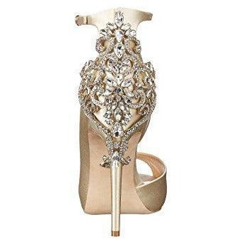 Bride Savvy LLC -Your Bride Box Badgley Mischka Women's Karson Pump, Ivory, 5 Medium US