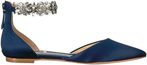 Bride Savvy LLC -Your Bride Box Badgley Mischka Women's Morgen Mary Jane Flat, Midnight, 8 M US