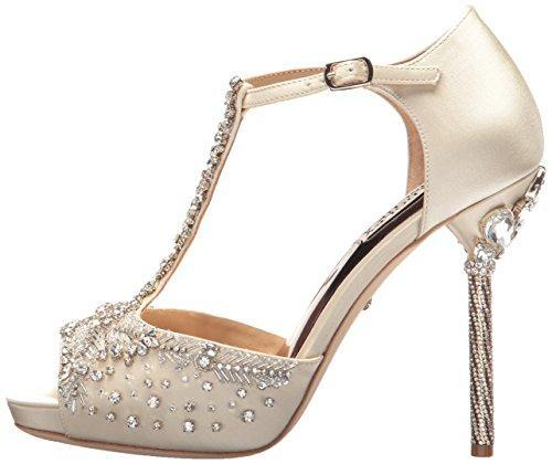 Bride Savvy LLC -Your Bride Box Badgley Mischka Women's Stacey Heeled Sandal, Ivory, 10 M US
