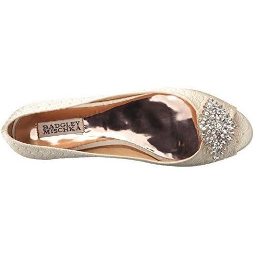 Bride Savvy LLC -Your Bride Box Badgley Mischka Women's Taft Flat, Ivory, 8 M US