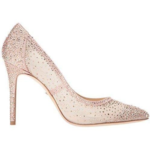 Bride Savvy LLC -Your Bride Box Badgley Mischka Women's Weslee Pump, Blush, 5.5 M US