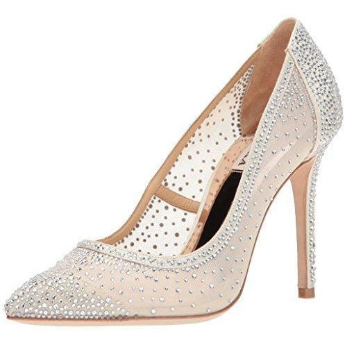 Bride Savvy LLC -Your Bride Box Badgley Mischka Women's Weslee Pump, Ivory, 9 M US