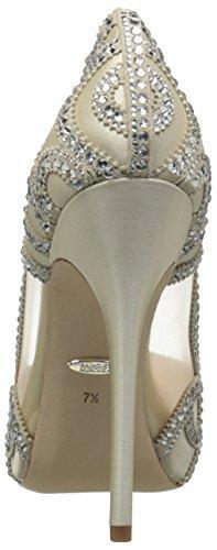 Bride Savvy LLC -Your Bride Box Badgley Mischka Women's Witney Pump, Ivory, 5 M US