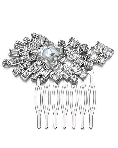 Bride Savvy LLC -Your Bride Box Hair Embelishments Jewel Crystal Square Comb
