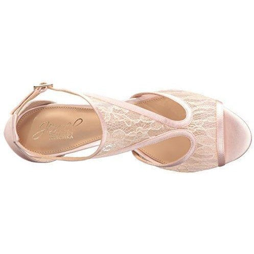 Bride Savvy LLC -Your Bride Box Jewel Badgley Mischka Women's Horizon Dress Sandal, Pale Pink, 9.5 M US