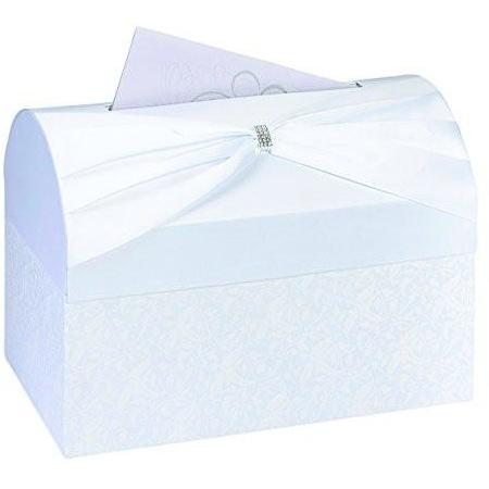 Bride Savvy LLC -Your Bride Box Lillian Rose Card Box, 11.75-Inch, White