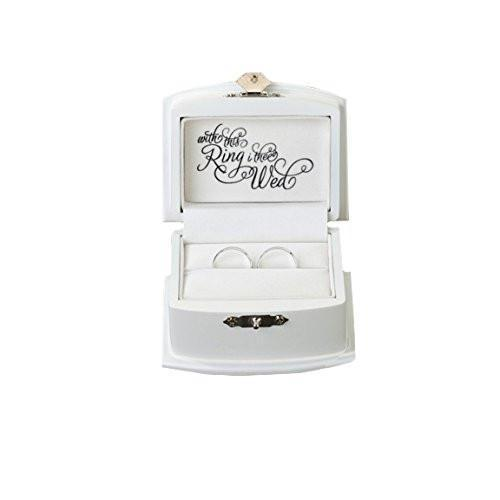 Bride Savvy LLC -Your Bride Box Lillian Rose Ring Bearer Box, 3.5-Inch by 2.75-Inch, White
