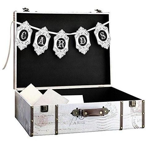 Bride Savvy LLC -Your Bride Box Lillian Rose True Love Suitcase Card Box, 21 by 16 by 7-Inch