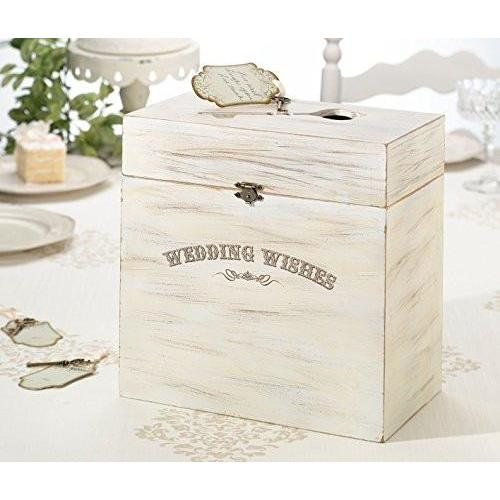 Bride Savvy LLC -Your Bride Box Lillian Rose Wedding Wishes Wooden Key Card Box
