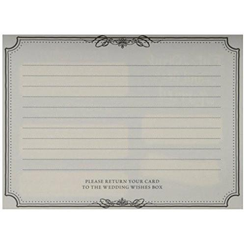 Bride Savvy LLC -Your Bride Box Lillian Rose Wishes Cards, 5.5-Inch by 4.25-Inch, Black, Set of 48