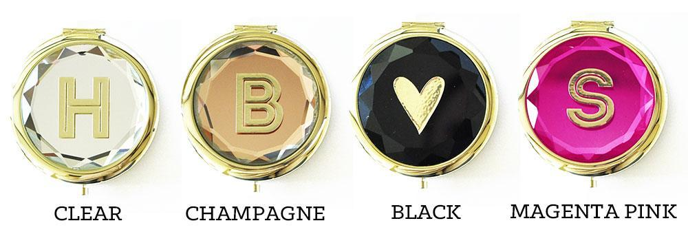 Bride Savvy LLC -Your Bride Box Monogram Compact Mirrors