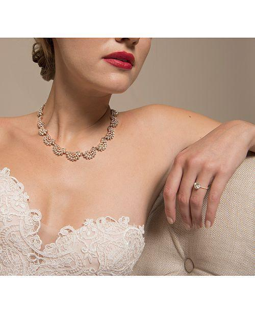 Bride Savvy LLC -Your Bride Box Necklaces Jewel Rose Pearl Crystal Arch Necklace