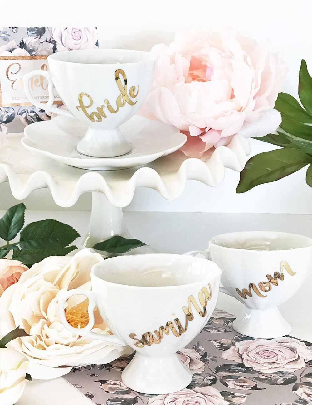 Bride Savvy LLC -Your Bride Box Personalized Porcelin Teacup & Saucer