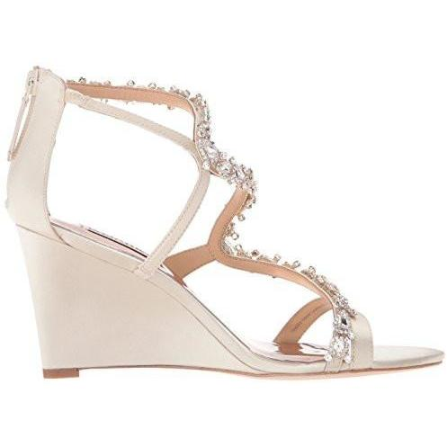 Bride Savvy LLC -Your Bride Box Shoes Badgley Mischka Bennet Wedge Sandal