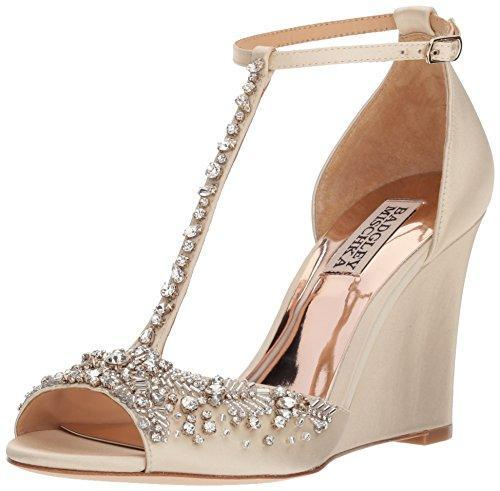 Bride Savvy LLC -Your Bride Box Shoes Badgley Mischka Women's Sarah Wedge Sandal