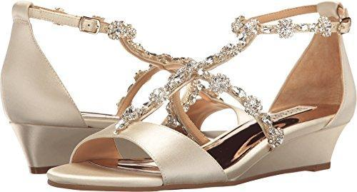 Bride Savvy LLC -Your Bride Box Shoes Badgley Mischka Women's Terry Wedge Sandal