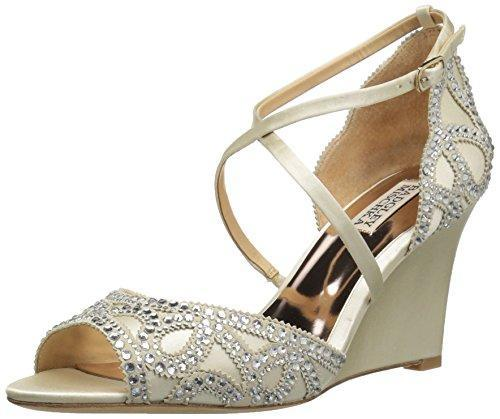Bride Savvy LLC -Your Bride Box shoes Badgley Mischka Women's Winter Wedge Sandal