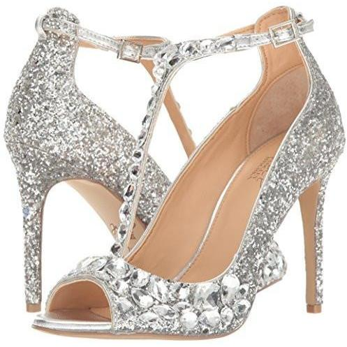 Bride Savvy LLC -Your Bride Box Shoes Jewel Badgley Mischka  Conroy Dress Sandal