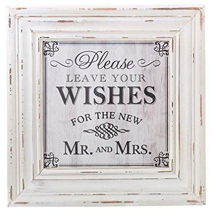 Bride Savvy LLC -Your Bride Box Wedding Wishes Square Sign, 24 x 20""