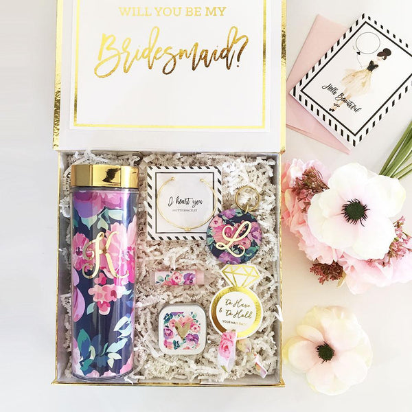 Event Blossom Deluxe Floral Personalized Gift Box