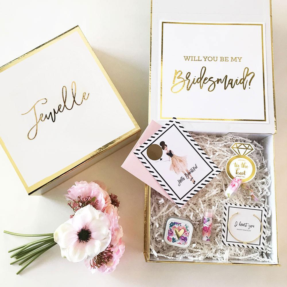 Event Blossom Floral Bridesmaid Proposal/Thank You Gift Box (Non Personalized)