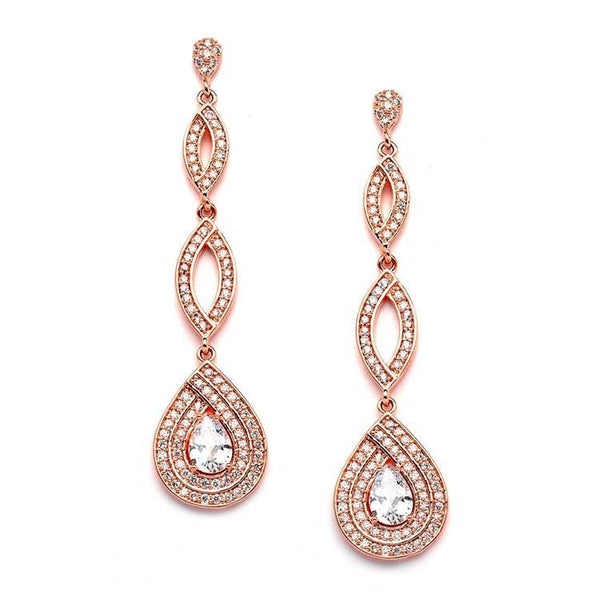 Marielle Earrings Gold Micro Pave Cubic Zirconia Teardrop Earrings