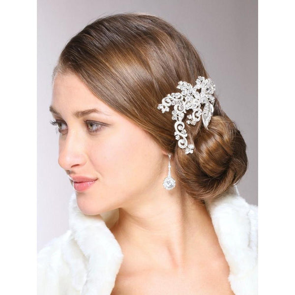 Marielle Hair Embelishments Art Nouveau Crystal Bridal Hair Clip