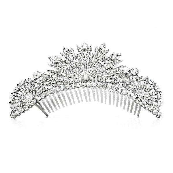 Marielle Hair Embelishments Gia Crystal Deco Tiara Comb
