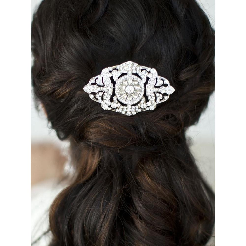 Marielle Hair Embelishments Magnificent Deco Crystal Hair Comb