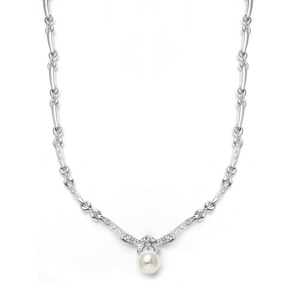 Marielle Jewelry Designer Pearl & Cubic Zirconia  Necklace