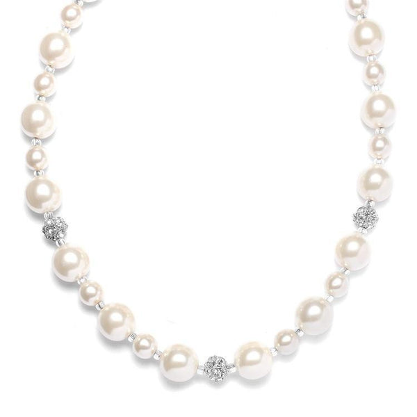 Marielle Jewelry Hand-Crafted Pearl Fireball Necklace