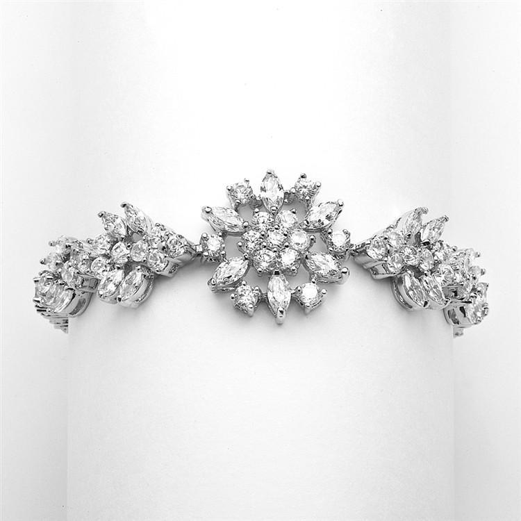 Marielle Jewelry Marquis Cluster  Bracelet