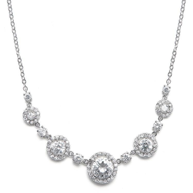 Marielle Necklaces CZ Circles Bridal Necklace