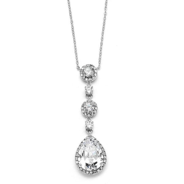 Marielle Necklaces Pear-shaped Pave Drop Necklace