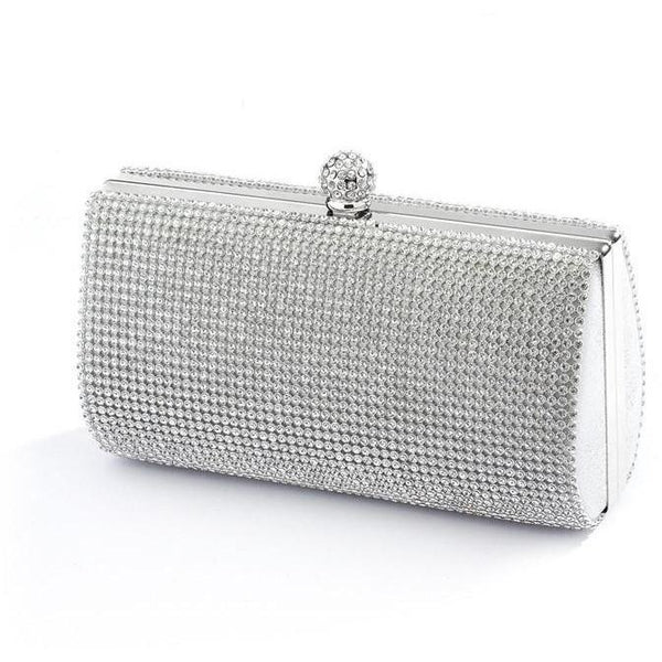 Marielle Purse 2-Sided Crystal Evening Bag Clutch Minaudiere