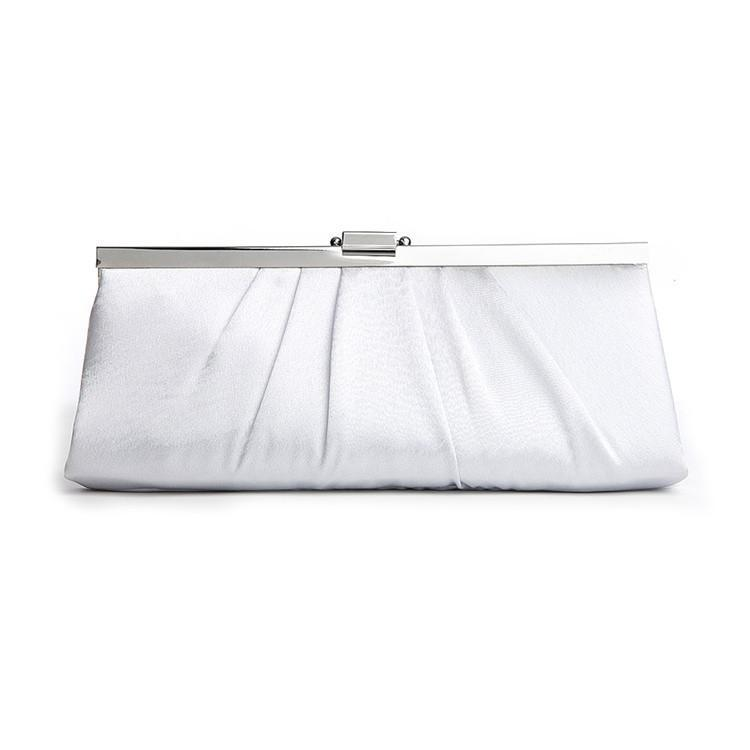Marielle Purse Sleek Framed Satin Purse (Silver)