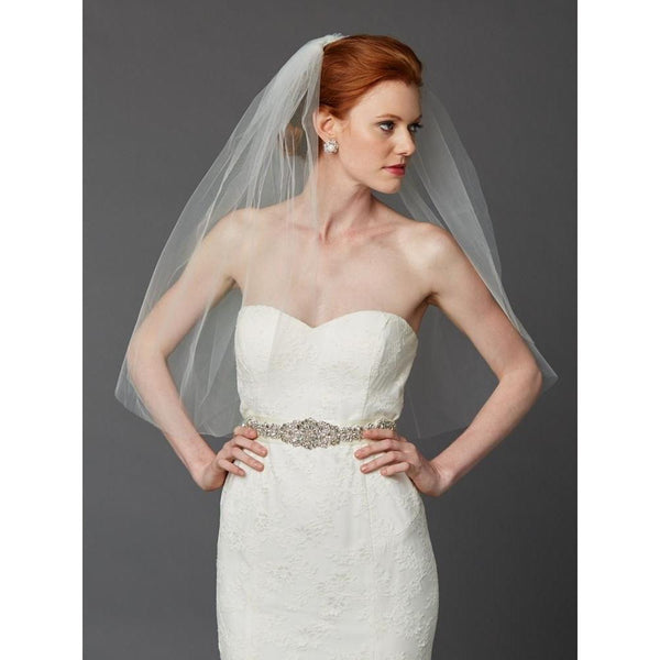 Marielle Viels Classic Comfort Single Layer Veil (Ivory)