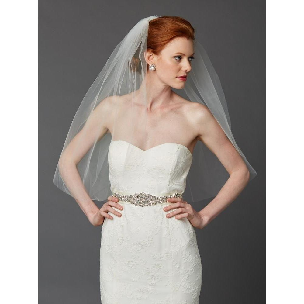 Marielle Viels Classic Single Layer Cut Edge Veil