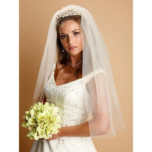 Marielle Viels Classic Two Layer Cut Edge Bridal Veil