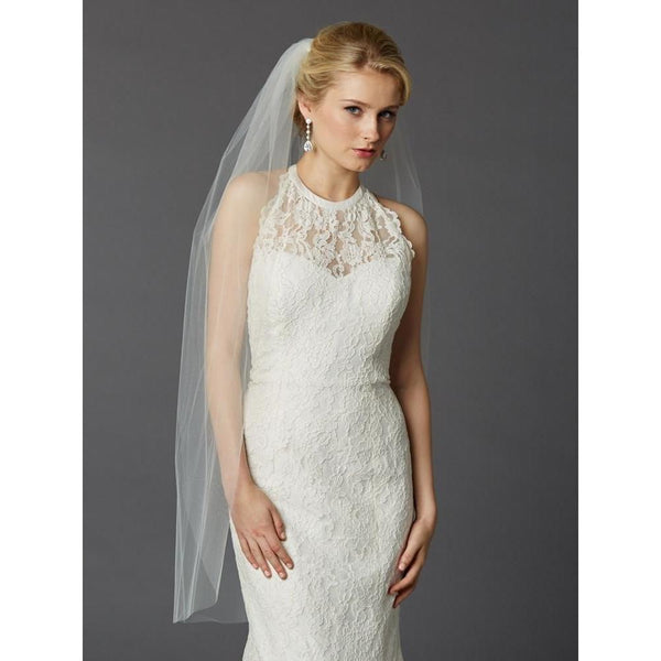 Marielle Viels Long Single Layer Cut Edge Veil